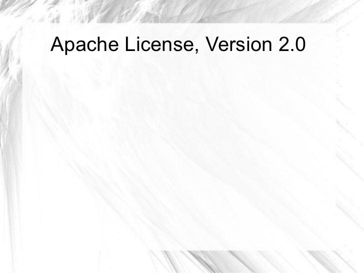 Apache License, Version 2.0