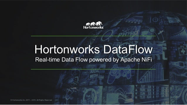 Hortonworks DataFlow Real-time Data Flow powered by Apache NiFi © Hortonworks Inc. 2011 – 2015. All Rights Reserved
