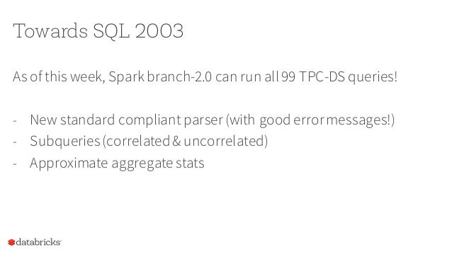 """SparkSession – a new entry point SparkSessionis the """"SparkContext""""for Dataset/DataFrame - Entry point for reading data - W..."""