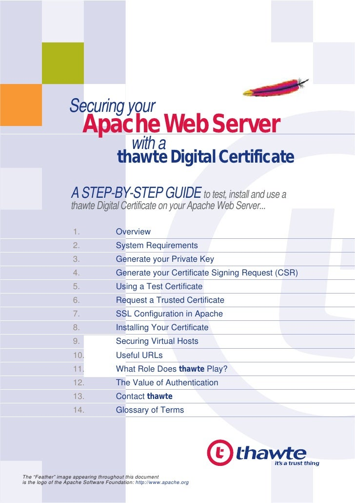 Securing your                          Apache Web Server                                         with a                   ...