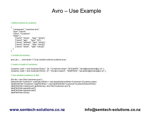 An Introduction to Apache Avro