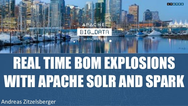 REAL TIME BOM EXPLOSIONS WITH APACHE SOLR AND SPARK Andreas	Zitzelsberger
