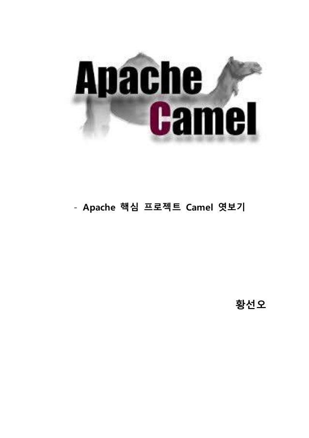 - Apache 핵심 프로젝트 Camel 엿보기 황선오