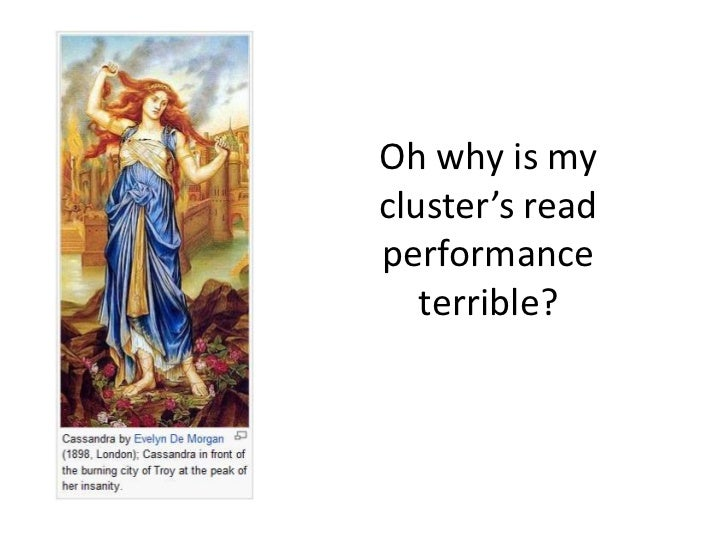 Oh why is mycluster's readperformance   terrible?