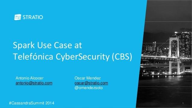 Spark Use Case at  Telefónica CyberSecurity (CBS)  Antonio Alcocer  antonio@stratio.com  Oscar Mendez  oscar@stratio.com  ...