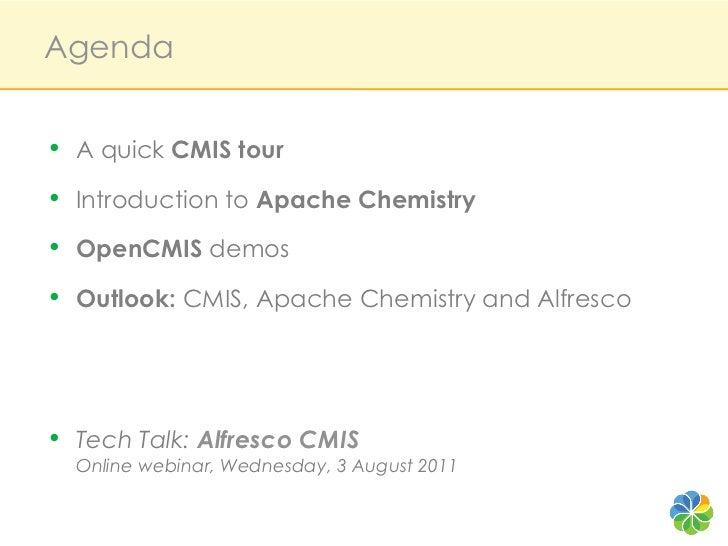 Apache Chemistry: The Alfresco Open Source Implementation of