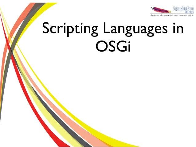 Scripting Languages in OSGi