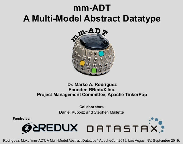 mm-ADT A Multi-Model Abstract Datatype Dr. Marko A. Rodriguez Founder, RReduX Inc. Project Management Committee, Apache Ti...