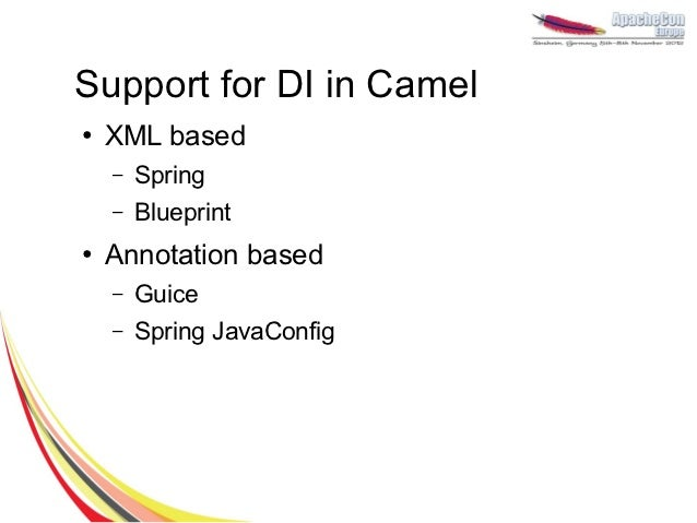 When camel meets cdi support for dependency injection in camel 11 malvernweather Image collections