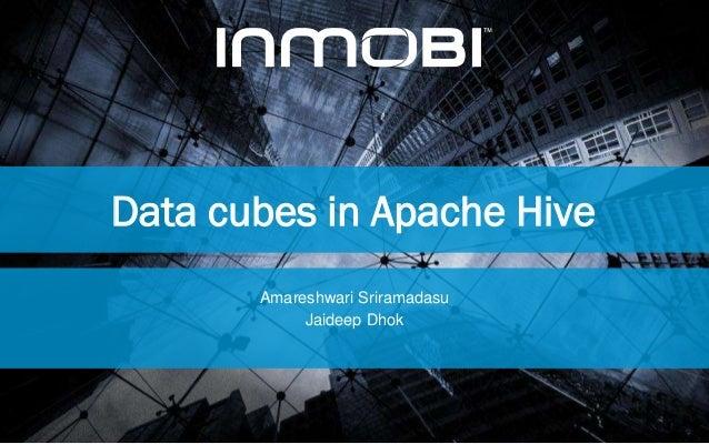Data cubes in Apache Hive Amareshwari Sriramadasu Jaideep Dhok