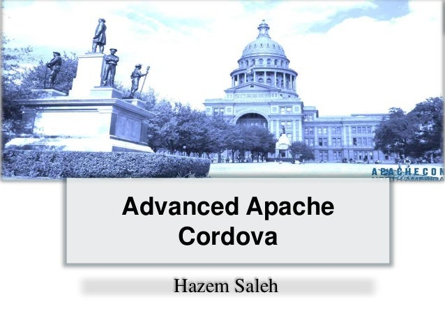 Advanced Apache Cordova Hazem Saleh