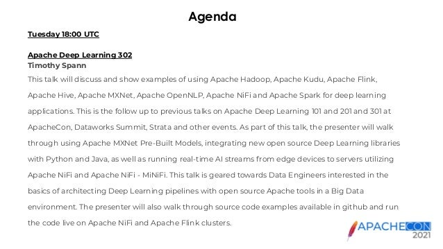 ApacheCon 2021   Apache Deep Learning 302 Slide 3
