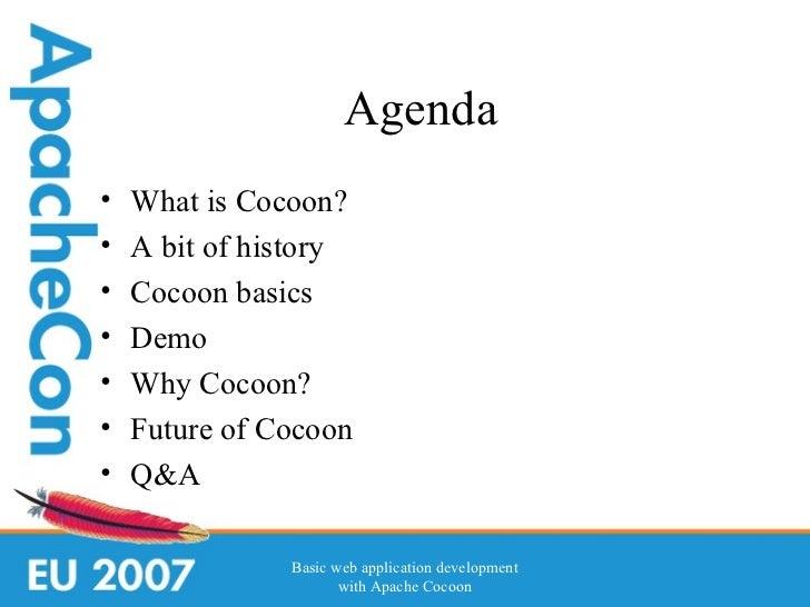 Basic web application development with  Apache Cocoon 2.1 Slide 3