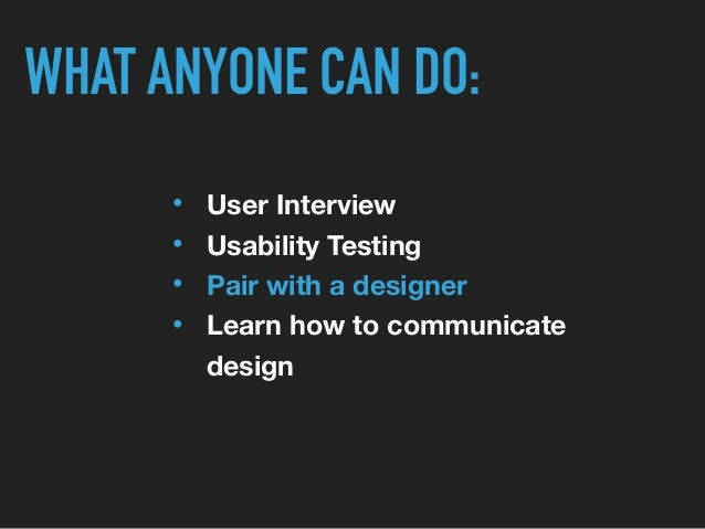 BE A VOICE FOR YOUR USERS