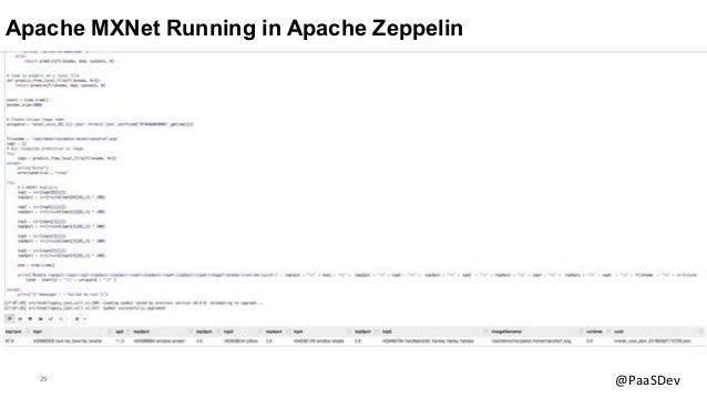 29 @PaaSDev Apache MXNet Running in Apache Zeppelin