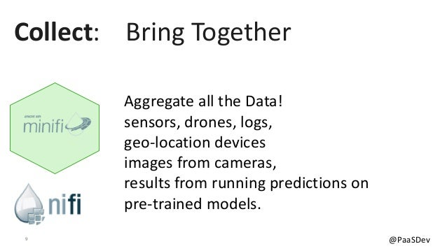 9 @PaaSDev Aggregate all the Data! sensors, drones, logs, geo-location devices images from cameras, results from running p...