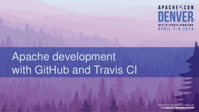 Apache development with GitHub and Travis CI