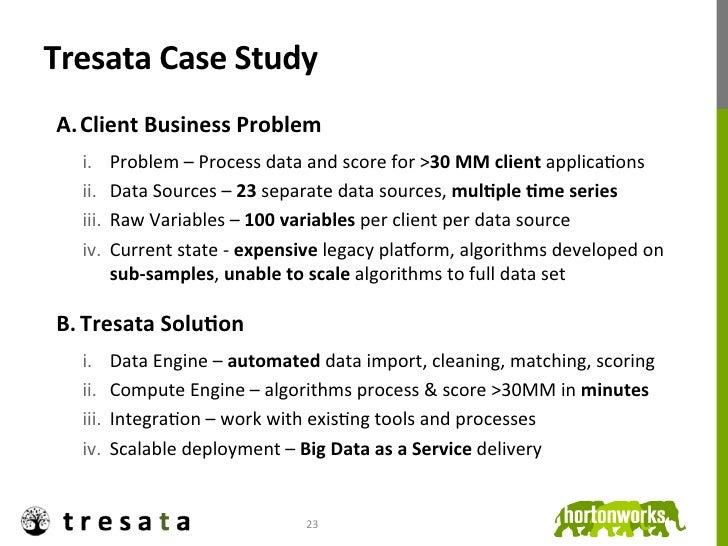 Tresata Case Study  A. Client Business Problem         i. Problem – Process data and score for ...