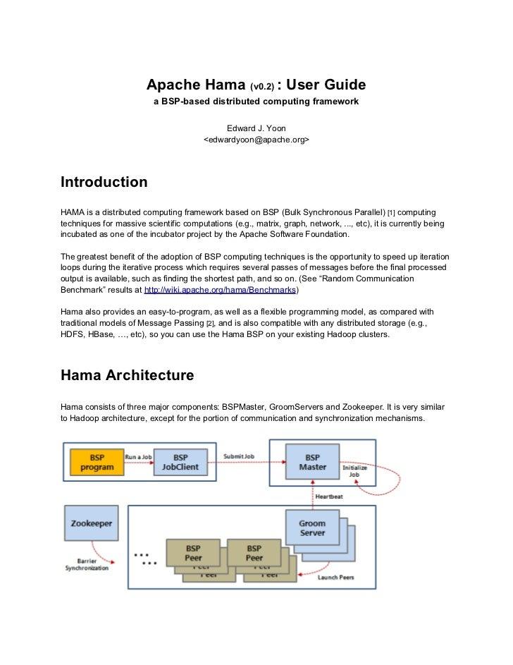 apache hama 0 2 userguide rh slideshare net apache sqoop user guide apache user guide ies