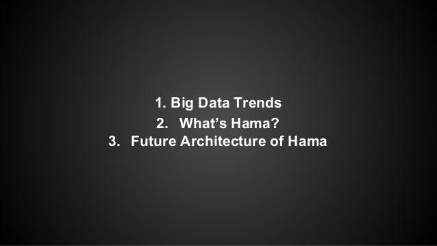 1. Big Data Trends  2. What's Hama?  3. Future Architecture of Hama