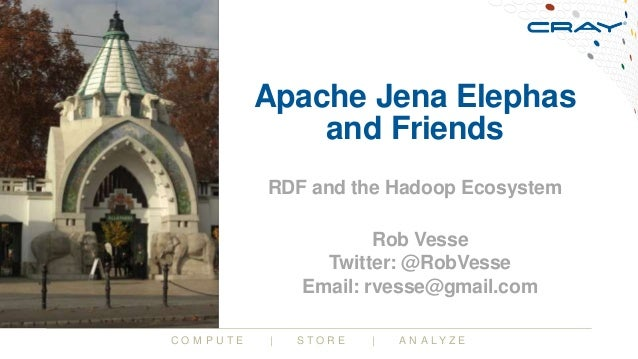C O M P U T E | S T O R E | A N A L Y Z E Apache Jena Elephas and Friends RDF and the Hadoop Ecosystem Rob Vesse Twitter: ...
