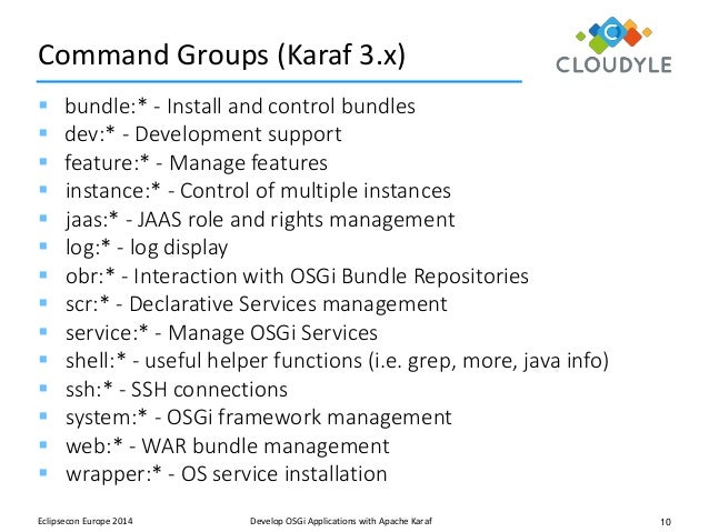 Apache karaf building osgi applications on apache karaf t frank applications with apache karaf 10 malvernweather