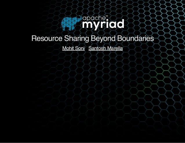 Resource Sharing Beyond Boundaries   Mohit Soni Santosh Marella