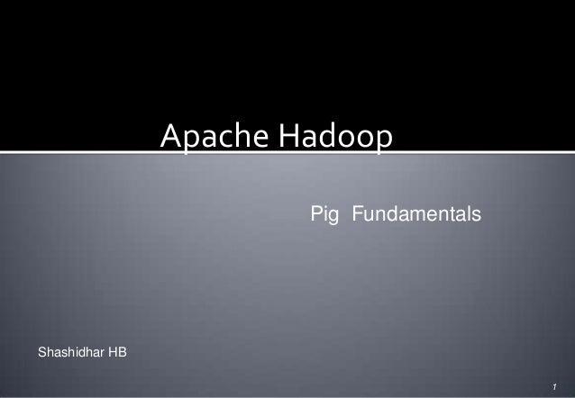 Apache Hadoop Pig Fundamentals  Shashidhar HB 1