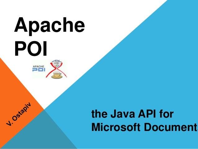 Apache POI the Java API for Microsoft Documents