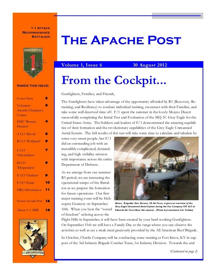 1-1 Attack   Reconnaisance                          The Apache Post       Battalion                          Volume 1, Iss...