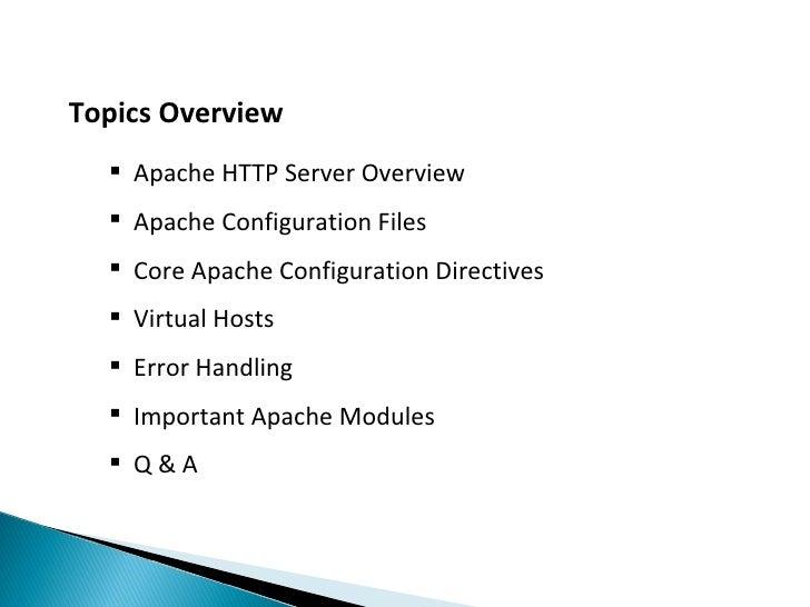 Apache Server Tutorial