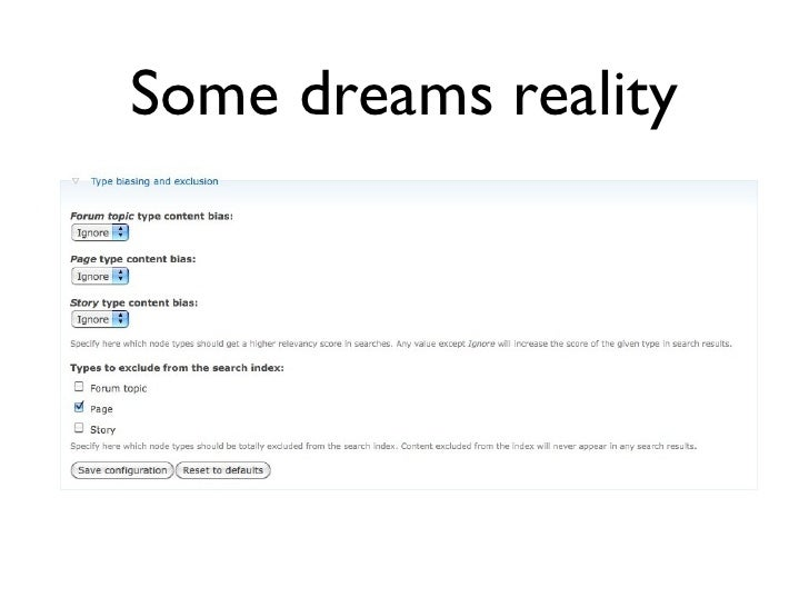 Some dreams reality