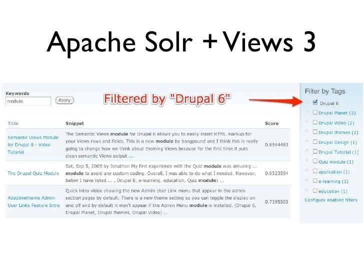 Apache Solr + Views 3