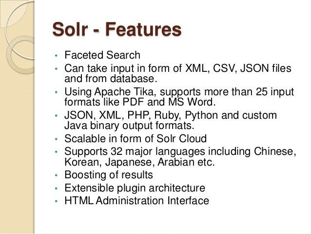 Building Search Interface Using Apache Solr in .NET | Naik ...