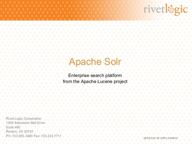 Apache Solr                                        Enterprise search platform                                     from the...