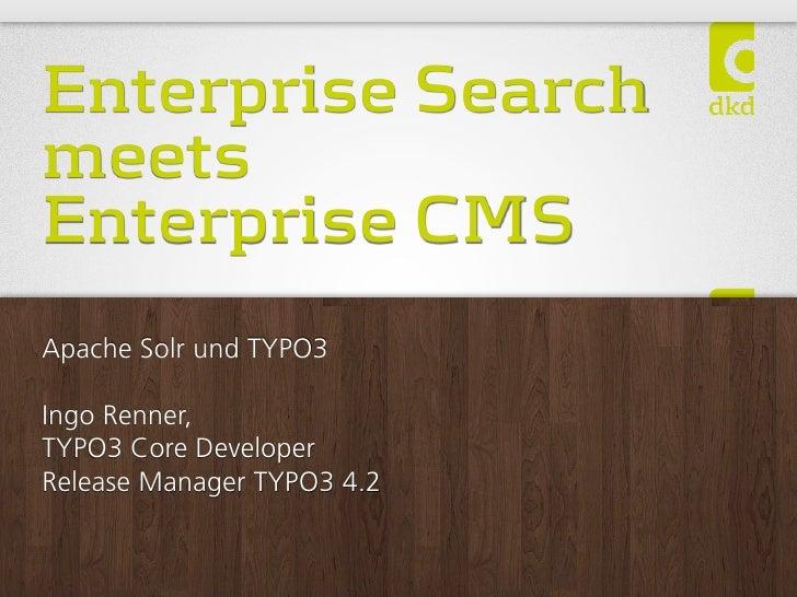 Apache Solr und TYPO3 @  Frankfurt PHP usergroup 2011-01 Slide 2