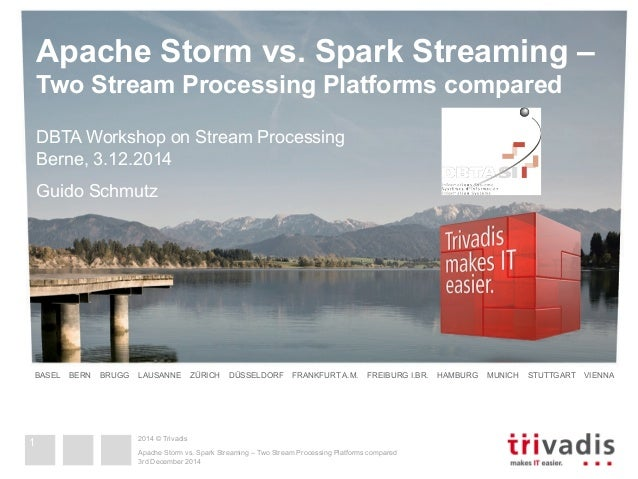Apache Storm vs. Spark Streaming –  Two Stream Processing Platforms compared  DBTA Workshop on Stream Processing  Berne, 3...