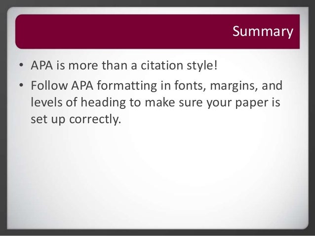 how to set up apa format