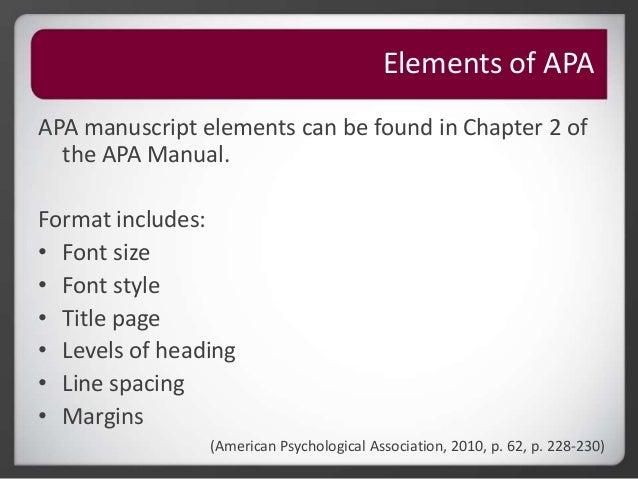 Roseman University Library - APA Citation - Basics and Introduction