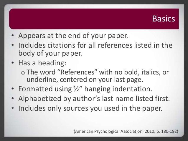 Roseman University Library Apa Citation Reference Page