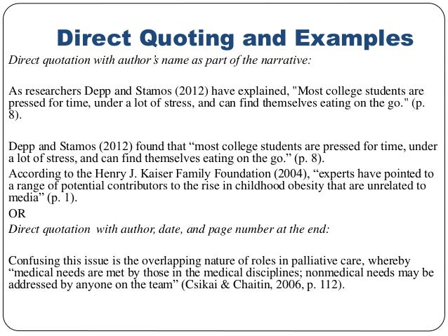 Apa Quote Citation Stunning How Do You Quote In Apa Format Denmarimpulsarco