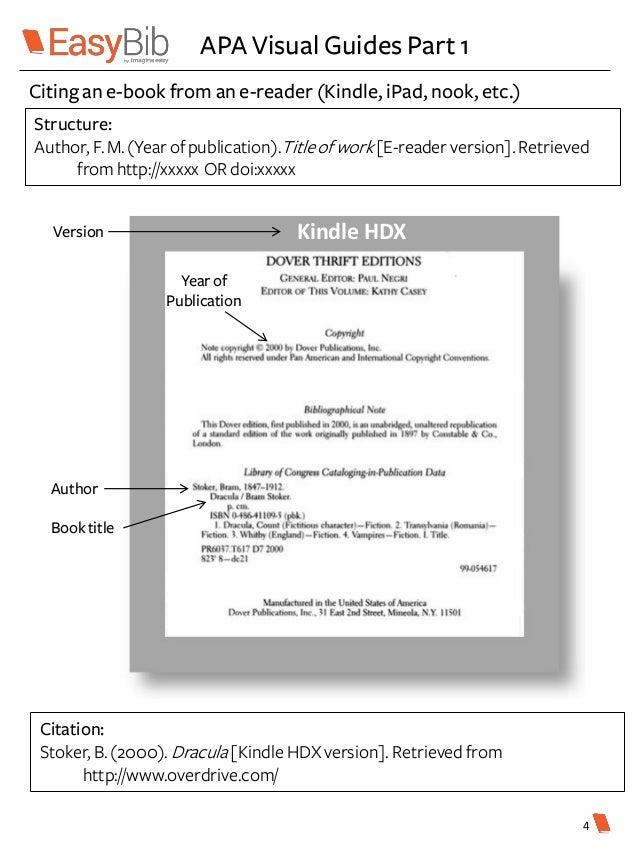Apa citation basics 6th edition apa visual guides part 1 kindle ccuart Images