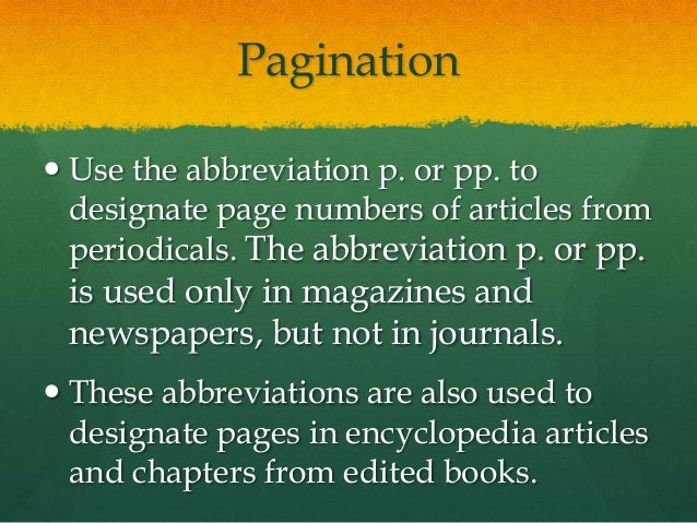 abbreviation pages pp