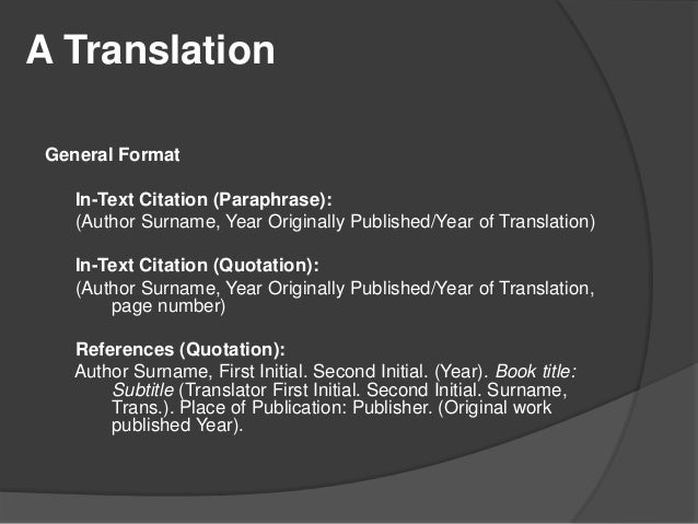 Apa citation style 6th edition 19 a translation ccuart Image collections