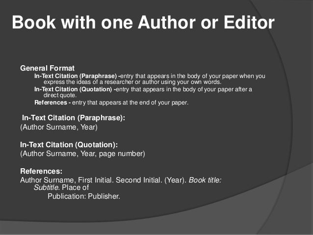 Apa citation style 6th edition book ccuart Choice Image
