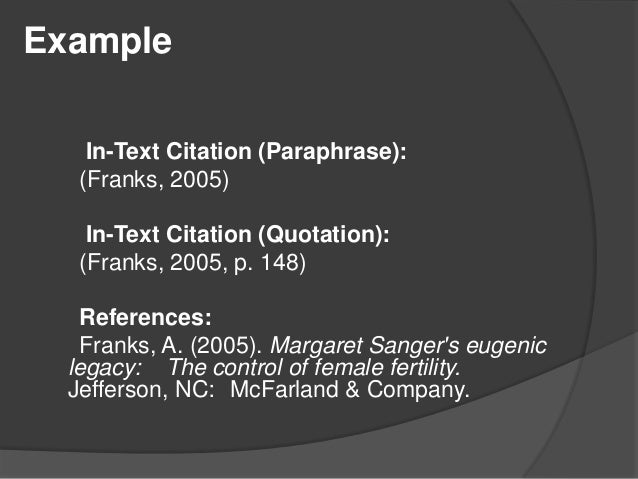 In text citation using apa 6th style youtube in text citation apa apa citation style 6th edition ccuart Images