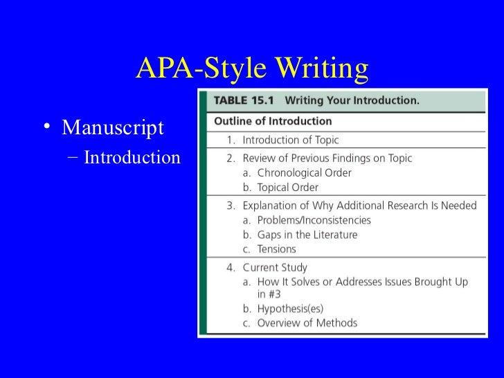 using apa format