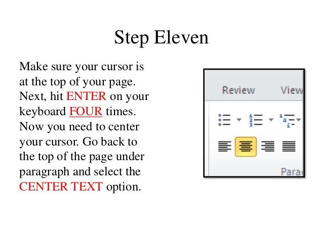 how to make a cover page apa