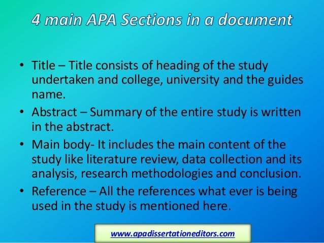 Dissertation editors apa