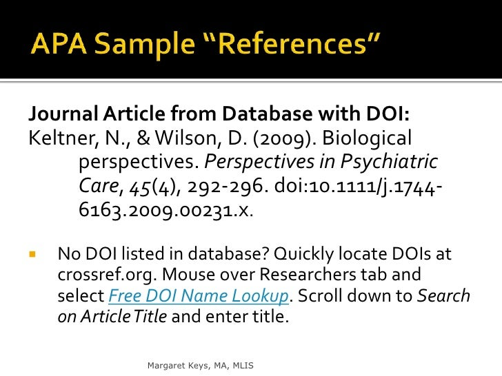 apa format for online references